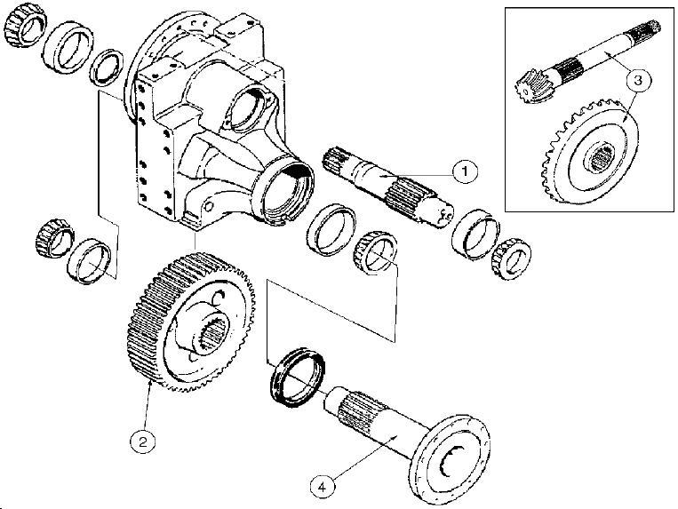 Case Construction Parts - Dozer Parts - Final Drive - 1150 and 1450