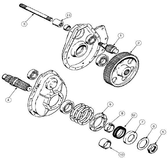 Case 310 350 350b Dozer Final Drive Parts