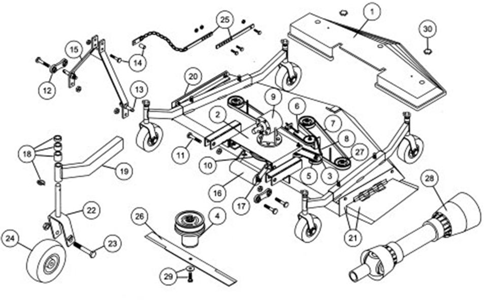 woods mower belt diagram